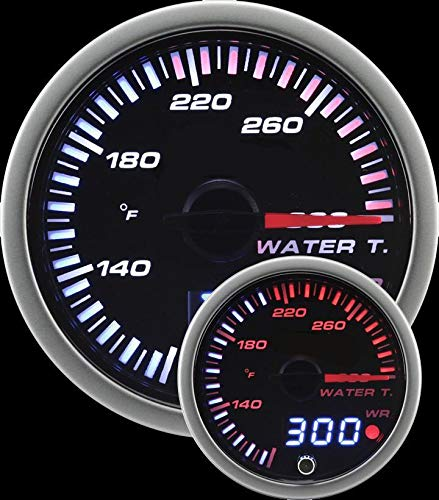 Prosport Universal 60mm JDM Water Temperature Gauge 80-300F by Prosport Performance