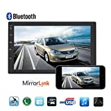 Double Din Car Stereo, 7 Inches Touch Screen in Dash Car CD DVD