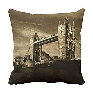 lettert Londres casa de Londres fundas de almohada decorativo para ropa de manta almohadas 16x 16funda de almohada