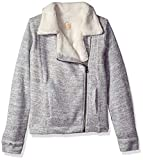O'Neill Girls' Alta Zip Fashion Fleece with Sherpa Lining Sweater