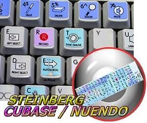 STEINBERG CUBASE / NUENDO GALAXY SERIES NEW KEYBOARD STICKERS SHORTCUTS 12X12 SIZE