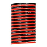 Silicone Rubber Wire [20ft total,10 ft Red and 10 ft Black] - UTUO 12 Gauge Stranded Tinned Copper Conductor Wire, Soft Flexible Heat Resistant Silicone insulated Wire Cords