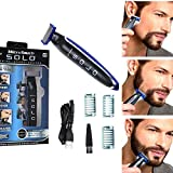 OneBlade Face + Advanced Hybrid Electric Trimmer and Shaver Rechargeable Razor for Men