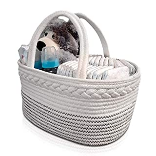 Diaper Caddy Organizer and Storage Baby Shower Caddy Basket for Girls and Boy Portable Car Travel Organizer Bag for Newborn and Infant Essentials Diaper Changing Table Caddy Organizer Gifted.
