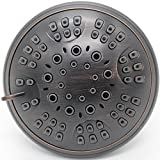 Xogolo Shower Head with 5 Settings High Pressure and Water Saver Mode, Oil Rubbed Bronze Finished, Includes Self-Cleaning Silicon Nozzles, Adjustable Brass Ball Joint and Free Teflon Tape