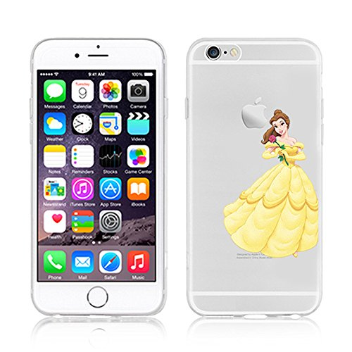 NEW DISNEY PRINCESSES TRANSPARENT CLEAR TPU SOFT CASE FOR APPLE IPHONE 7 PLUS - BELLE