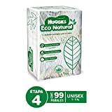 Huggies Eco Natural, Pañales Ecológicos para Bebé, Etapa 4, Paquete de 99