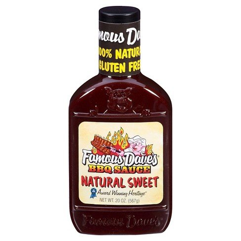Famous Dave's BBQ Sauce Natural Sweet 20 oz