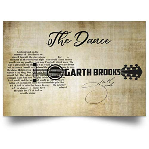 The Dance Song Lyrics Poster Garth Lovers Brooks-Fan