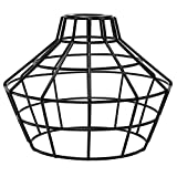 iLightingSupply 37-0114-50 Cage Premium Washer Mount Bulb Cage with Large Washer - Open Style - Polished Brassblack