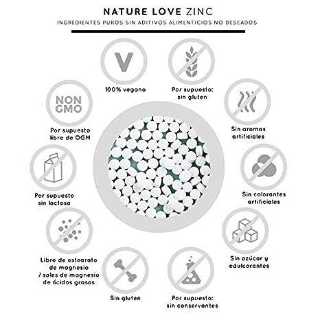 25 mg de zinc. Gran biodisponibilidad de bisglicinato de zinc. Altamente concentrado, vegano, fabricado en Alemania.: Amazon.es: Salud y cuidado personal