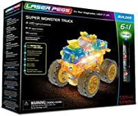 Laser Pegs Super Monster Truck 6-in-1 Building Set; The First Li