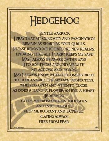 Crystal Hedgehog (Hedgehog Prayer Print 8 1/2 x)