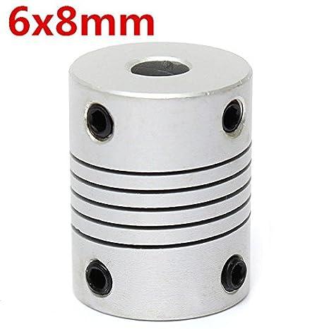 Doradus 6 mm x 8 mm aluminio elástico onda embrague od19 mm X L25 mm Motor Paso a Paso CNC eléctrico Conexión: Amazon.es: Electrónica