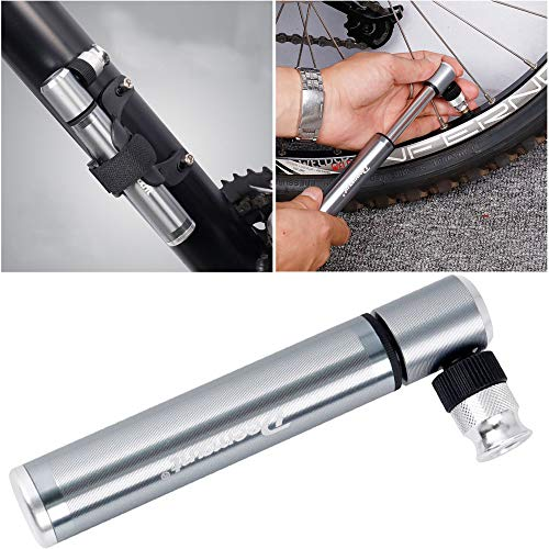 Blueseao Bicycle Tire Inflator Gauge,Ultralight Portable Aluminum Alloy Bicycle Air Pump Bike Tire Inflator ()