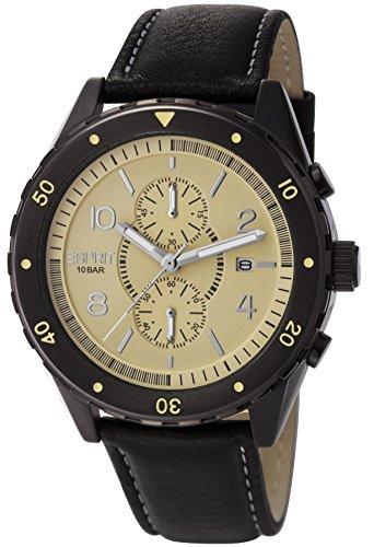 Esprit Men's Quartz Watch Alamo Chrono Beige ES105551002 with Leather Strap
