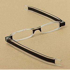 Black 360 Degree Rotation Rotating Folding Presbyopic Reading Glasses Strength 2.5 by STCorps7