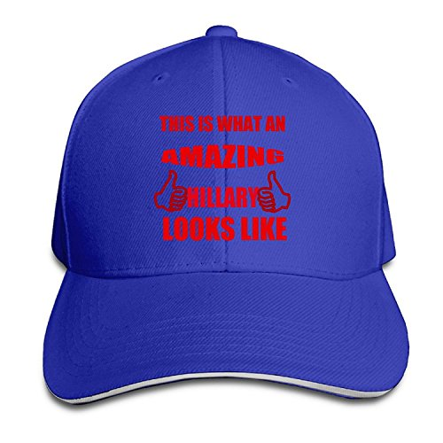 Unisex This Is What An Amazing Hillary Looks Like Adjustable Snapback Baseball Caps RoyalBlue One Size
