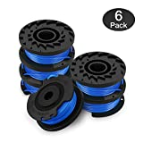 Eventronic Single Line String Trimmer Replacement Spool for Greenworks, 0.065'' Autofeed Replacement Spools String Trimmers - 6 pack