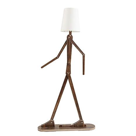 DIY Hombre Lámpara de pie de madera decorativa con pantalla ...