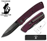 Bone Collector BC-829-BP 3.75″ blk/Pink Metal Handle 3″ Black Ceramic Zirconia Blade Pocket Knife W/Belt Clip Review
