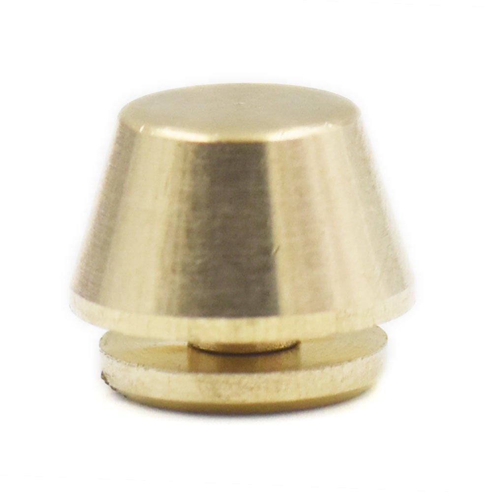 Fujiyuan 20 Sets 10mm 3//8 x 6mm 5//16 Screwback Solid Brass Studs Nailheads Screw Back Feet Rivet Bullet Spikes Spots for Purse Handbag Leather craft