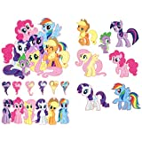 My Little Pony Friendship Is Magic Group Shot Set Removable Wall Stickers with Free My Little Pony Heart Shaped Ponies
