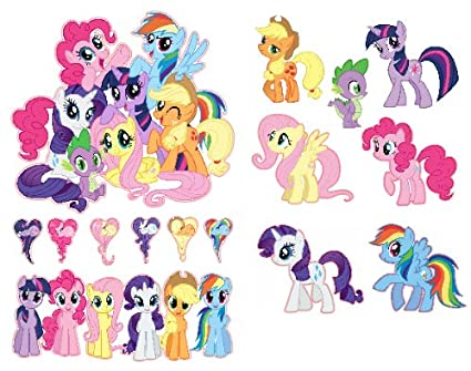 my little pony friendship is magic group shot set removable wall