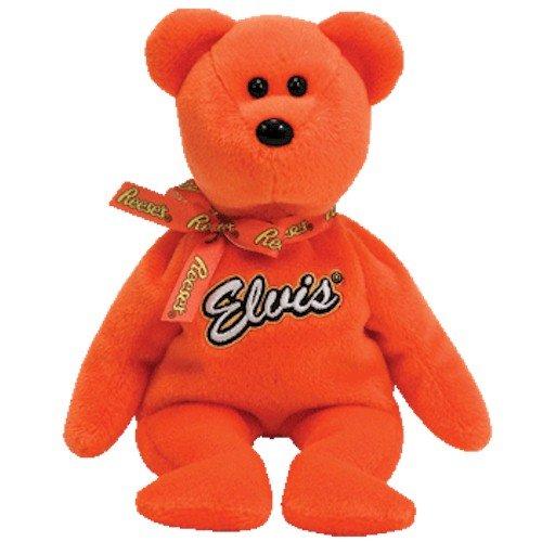 TY Beanie Baby - COCO PRESLEY the Bear (Orange Version - Walgreen's Exclusive) (Elvis Presley Bear)