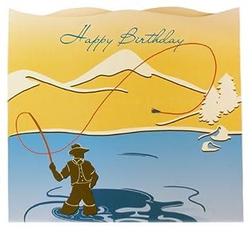 Amazon happy birthday fisherman greeting card and envelope happy birthday fisherman greeting card and envelope greeting card size 6 25 bookmarktalkfo Gallery