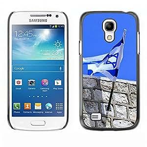 - Israeli flag - - Monedero pared Design Premium cuero del tir¨®n magn¨¦tico delgado del caso de la cubierta pata de ca FOR Samsung Galaxy S4 MiniI9190 I9192 I9195 Funny House