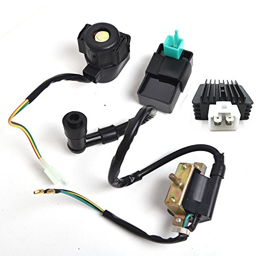 (New CDI Box Ignition Coil Solenoid Relay Voltage Regulator for ATV 50cc 70cc 90cc 110cc 125cc Chinese ATV Dirt Bike and Go Kart)