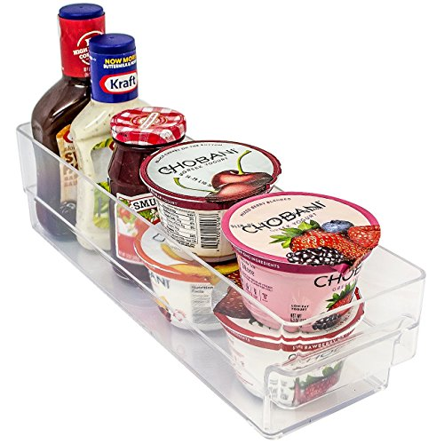 Freezer Organizer & Refrigerator Bins - Stackable Storage Containers