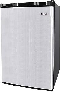 Northair Mini Fridge Refrigerator with Freezer Design,2.6 Cu.Ft Single Reversible Door Compact Refrigerators for Dorm/Apartment/Basement/Office, Inside Cold Drink/Beverage/Bear/Fruits/Vegetables