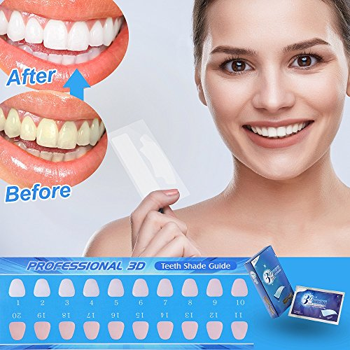 Teeth Whitening Strips, Herwiss 3D White Whitestrips with Mint Flavor for Gum Health and Refresh Breath, Dental Whitener Kit Elastic Gels for Teeth Stain Removal - 28pcs 14 Treatments for Teeth Care by Herwiss (Image #4)