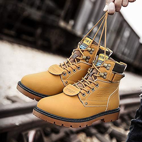 Lijun 10 Chelsea 5 Doublé Chaussure D'hiver Martin Taille Imperméable Casual Travail Entièrement De Chaud Bottes C 5 Randonnée Bottines Hommes TTBxSwqr