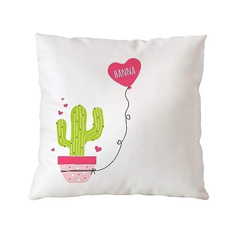 Casa Vivente - Cojín Blanco para Sofá con Impresión - Cactus ...