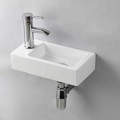 Waschbecken Amazon.Handwaschbecken Klein Gimify Mini Waschbecken Wc Zur Wandmontage Aus Keramik Bad