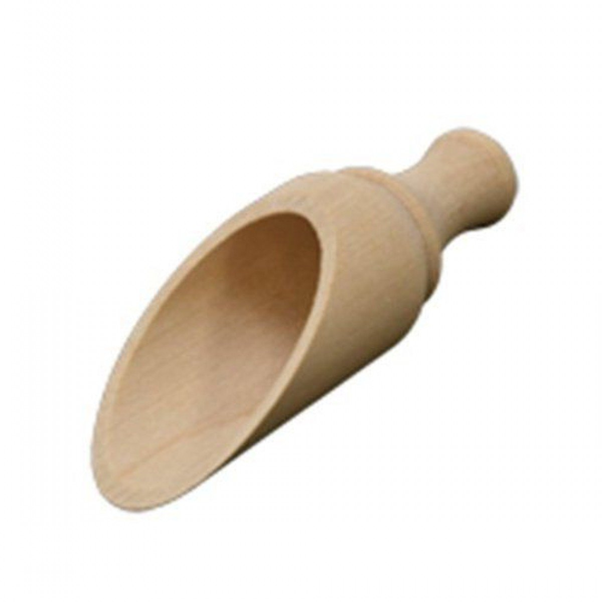 100X Dress My Cupcake Rustic Round Wood Scoop, 3.5-Inch
