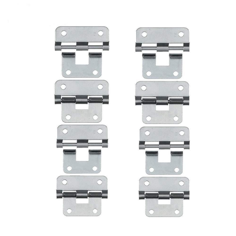 Set of 8 Silver Take-Apart//Lift Off Hinge Door Hinges