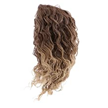 Dovewill Fantasy High-temperature Wire Curly Hair Wig Heat Safe For 18'' American Girl Dolls Custom Use #17