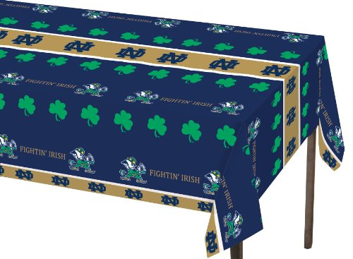 Creative Converting Notre Dame Fighting Irish Plastic Banquet Table Cover (Dame Notre Tables)