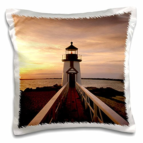- 3dRose pc_90959_1 Massachusetts, Nantucket, Brant Point lighthouse-US22 WBI0121-Walter Bibikow-Pillow Case, 16 by 16