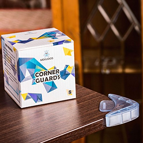 Mekudos Corner Guards 8 Pack Baby Proofing Clear