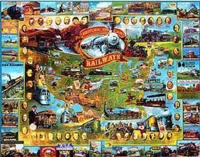 (Historic American Railways 1000 Piece Jigsaw Puzzle)