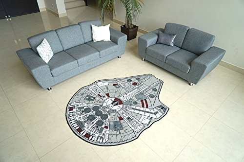 Star Wars Large Millenium Falcon Rug, 59