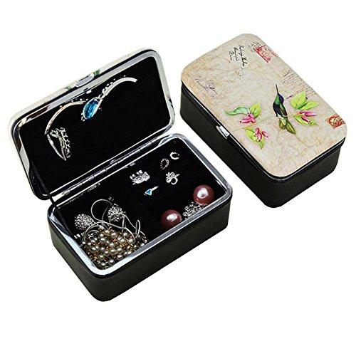 Ice King Costume Ideas (Xerhnan High grade small jewelry box Mirrored Storage Case, travel accessories jewelry box / bag)