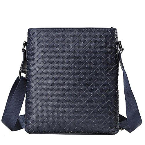 Penao hombro bolsos 5cmx28cm solo mano a messenger Cabeza los de todo 25cmx3 Blue de business bolsa de hombres de cuero tejido ZfqZHrxcTw