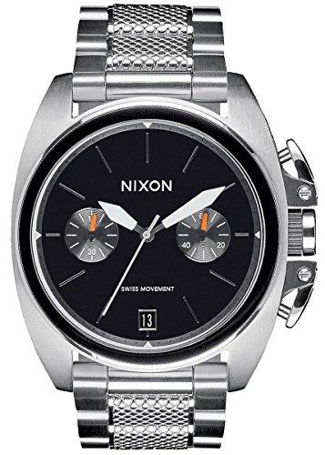 Silver/Black The Anthem Chrono Watch by Nixon