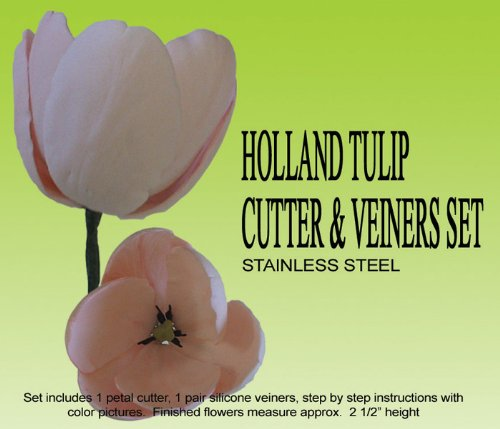 (Holland Tulip Cutter & Veiner Set)